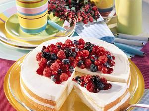 Joghurt-Waldbeeren-Torte Rezept