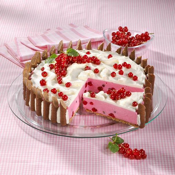 Johannisbeer-Creme-Amicelli-Torte Rezept