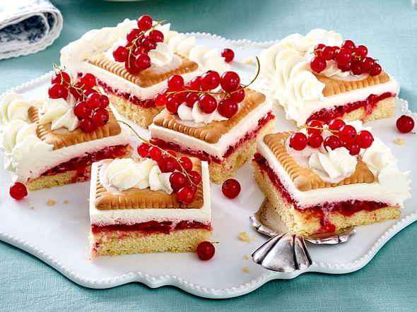 Johannisbeer-Keks-Kuchen Rezept