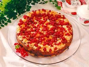 Johannisbeer-Quarkkuchen mit Streuseln Rezept