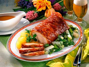 Jungschweinrücken mit Gemüse Rezept