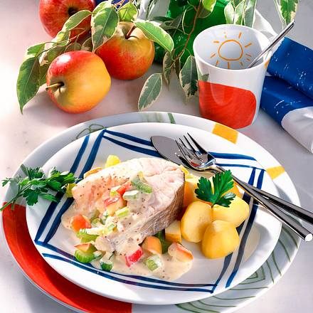 Kabeljau-Kotelett in pikanter Soße Rezept