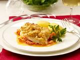 Kabeljau vom Blech mit Weißbrotkruste und Flusskrebs-Soße Rezept