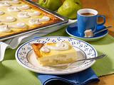 Käse-Birnenkuchen mit Baiserhaube Rezept