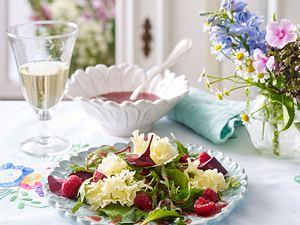 Käse-Carpaccio mit Himbeer-Vinaigrette Rezept