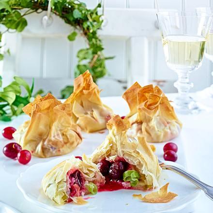 Käse-Cranberry-Päckchen Rezept