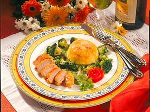 Käse-Flan mit Broccoli & Hähnchen Rezept