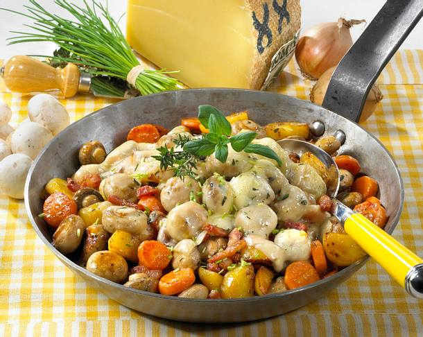 Käse-Gemüse-Pfännchen Rezept