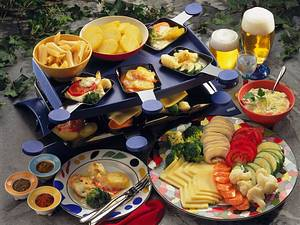Käse-Gemüse-Raclette Rezept