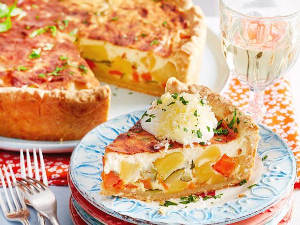 Käse-Gemüse-Wähe Schweizer Art Rezept