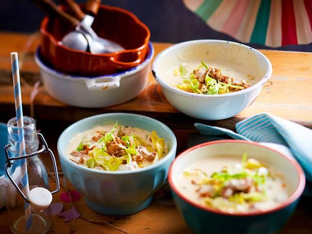Käse-Hack-Suppe gegen Männergrippe Rezept