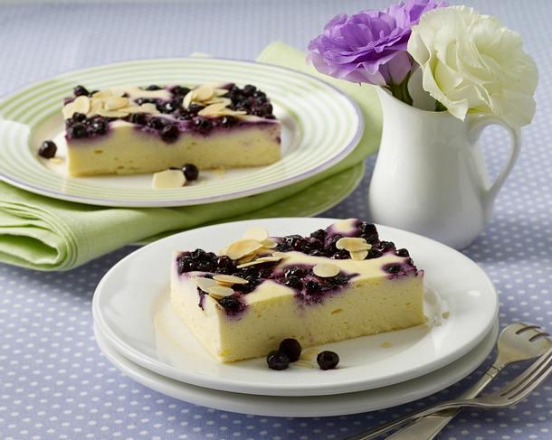 Käse-Heidelbeer-Kuchen vom Blech Rezept