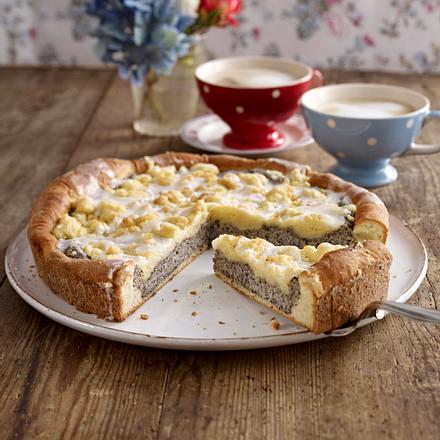 Kase Mohn Kuchen Mit Streuseln Rezept Lecker