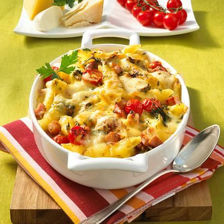 Käse-Nudelauflauf mit Kasseler Rezept