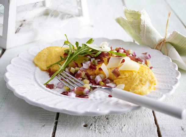 Käse-Omelett mit Bündner-Fleisch-Tatar Rezept