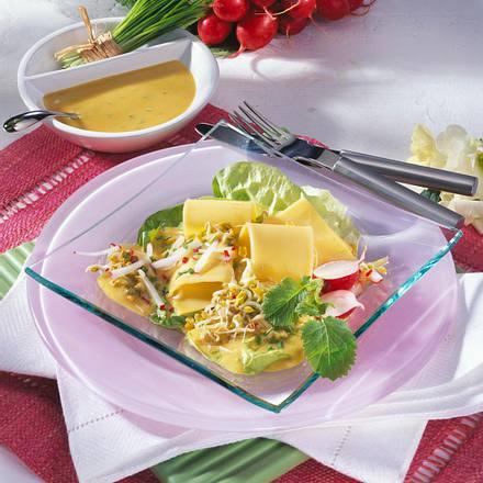 Käse-Salat mit Sprossen Rezept