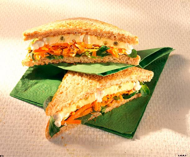 Käse-Sandwich mit Möhrenraspel (Diabetiker) Rezept