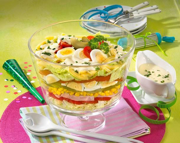 Käse-Schichtsalat Rezept