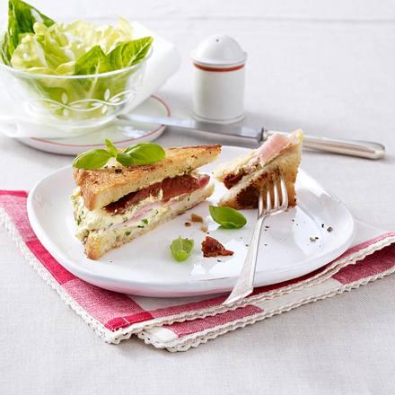 Käse-Schinken-Sandwiches aus der Pfanne Rezept