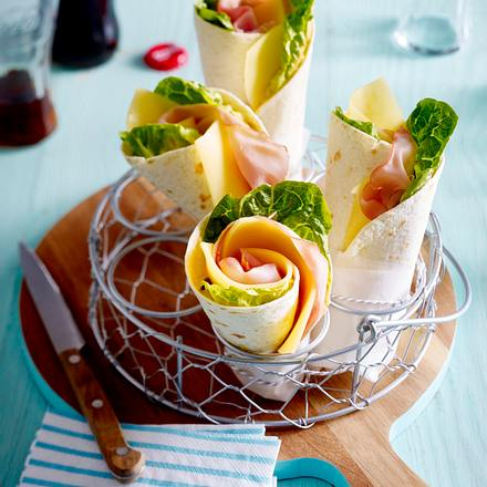 Käse-Schinken-Wraps Rezept