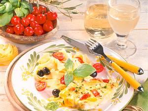 Käse-Schlemmer-Filet zu Bandnudeln Rezept