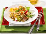 Käse-Speck-Salat mit Kürbiskernvinaigrette Rezept