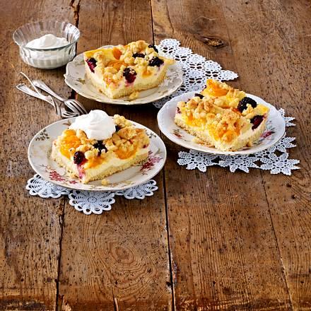 Käse-Streuselkuchen vom Blech Rezept