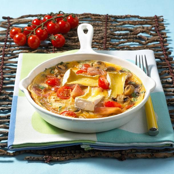 Käse-Tomaten-Omelett Rezept