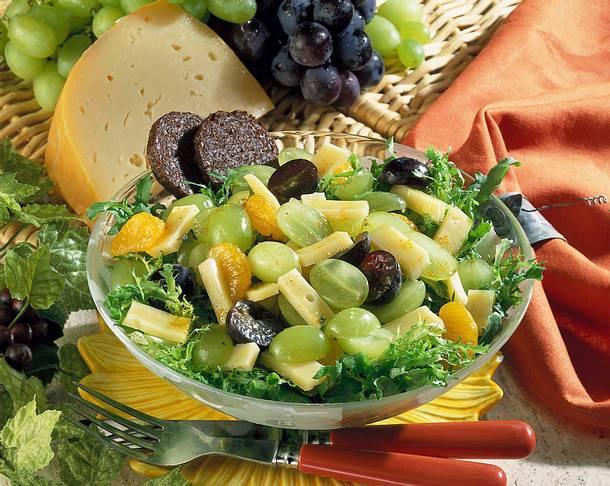 Käse-Trauben-Salat Rezept