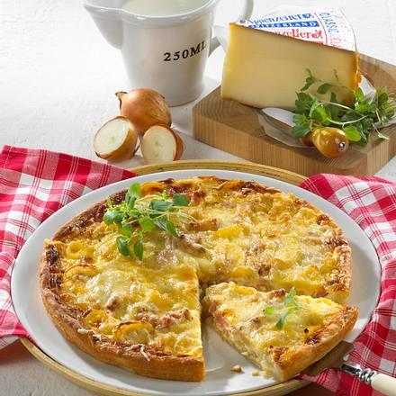Käse-Zwiebel-Kuchen Rezept
