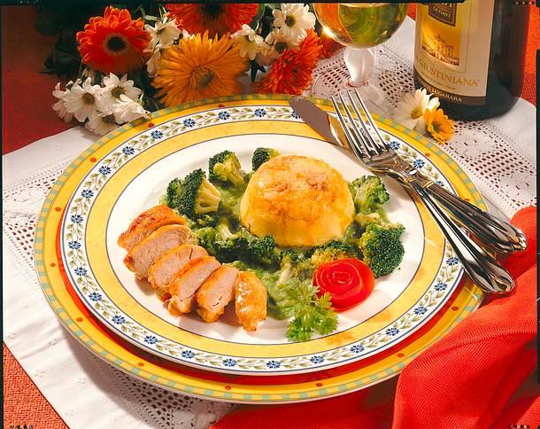 Käseflan mit Broccoli Rezept