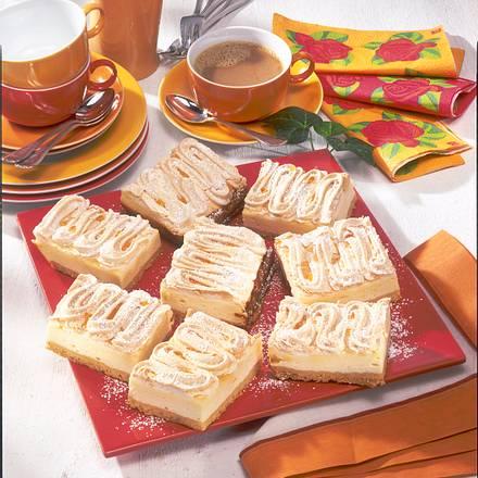 Käsekuchen mit Goldtröpfchen-Baiser Rezept