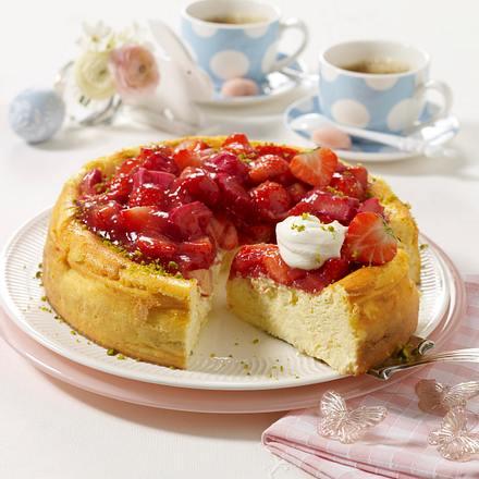 K sekuchen mit rhabarber erdbeer haube rezept chefkoch for Kochen rhabarber