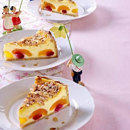 Käsekuchen mit versunkenen Aprikosen Rezept