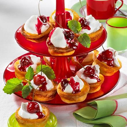 Käsekuchen-Muffins mit Kirschen (Diabetiker) Rezept