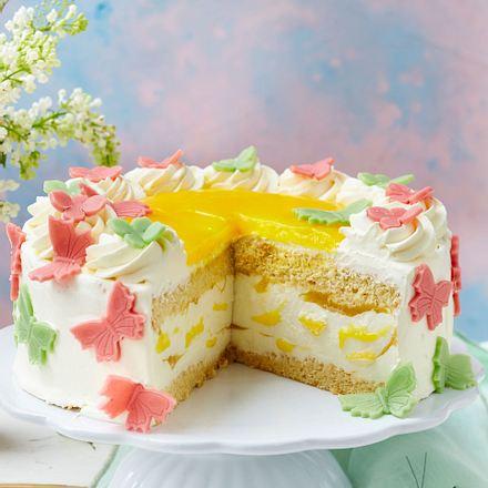 Käsesahne-Mango-Torte Rezept