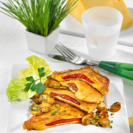 Käseschnitzel nach Puszta-Art Rezept