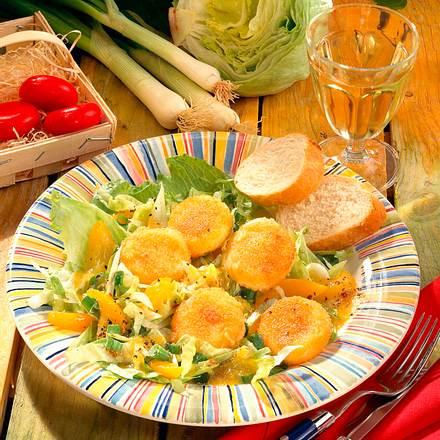 Käsetaler auf Salat Rezept