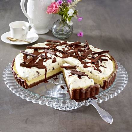 Käsetarte mit weißer Schokoladen-Mousse Rezept