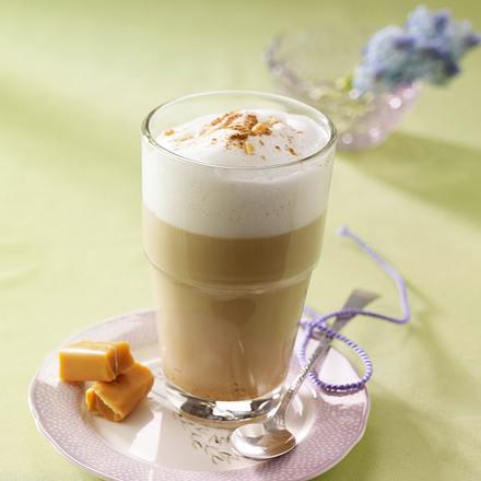 Kaffee Caramello mit Sirup Rezept