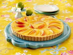 Kaki-Apfel-Kuchen mit Frischkäse-Guss Rezept