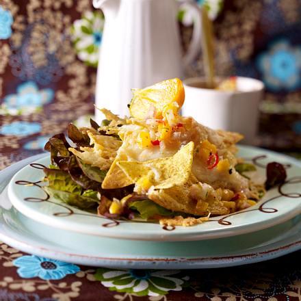 Kaki-Chili-Salsa zu gratinierten Taco-Chips Rezept