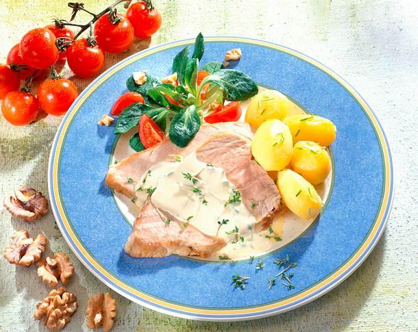 Kalbfleisch in Senfsoße Rezept