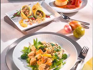 Kalbsgulasch mit grünem Gemüse und Kräuterreis Rezept