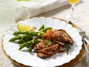 Kalbsschnitzel gefüllt mit Serrano-Schinken Rezept