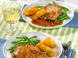 Kalbsschnitzel in Weißweinsoße Rezept