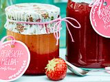 Kalt gerührte Pfirsich-Melba-Konfitüre Rezept