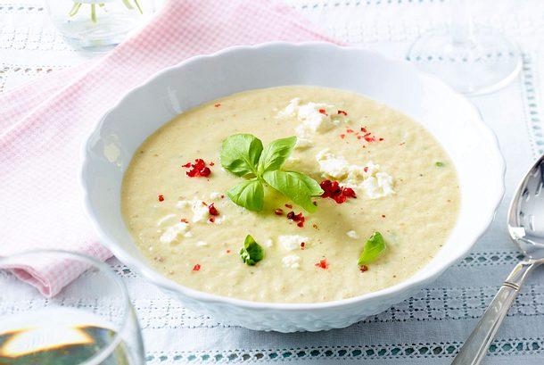 Kalte Auberginen-Feta-Suppe Rezept