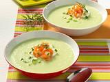 Kalte Gurkensuppe mit Dill und Lachs Rezept