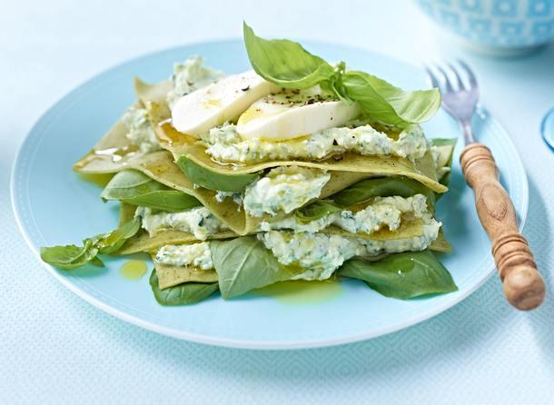 Kalte Lasagne verde mit Ricottacreme Rezept